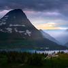 Hidden Lake Sunset Storm Breaking - Hidden Lake, Logans Pass, Glacier National Park, Montana