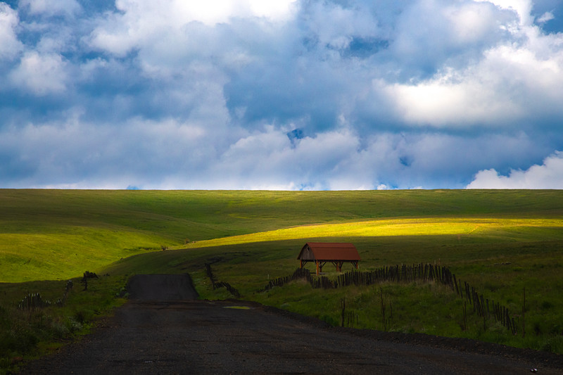 Light Streaking Across The Praries Wallowa County, Oregon