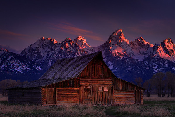 Twilight Hour From Mormon Row Of Moulton Barn - Grand Teton National Park, Wyoming