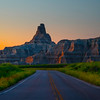 The Road Into Sunrise - Badlands National Park, South Dakota