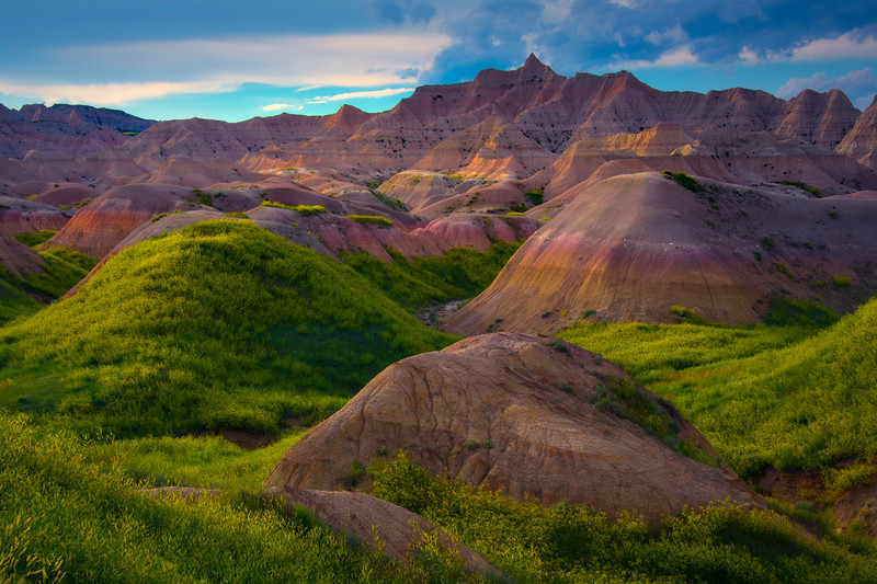 Within The Rolling Sweet Clover Valley - Badlands National Park, South Dakota