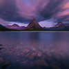 Grinnell Peak and Swift Current Lake Sunrise - Swiftcurrent Lake, Many Glacier, Glacier National Park, Montana