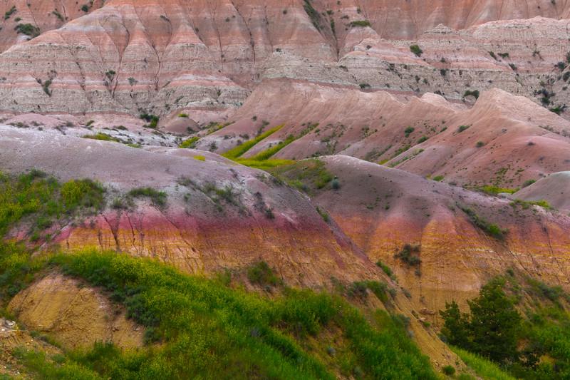 Abstract Color Patterns Of The Badlands - Badlands National Park, South Dakota