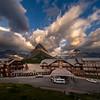 Many Glacier Hotel In Morning Light - Swiftcurrent Lake, Many Glacier, Glacier National Park, Montana