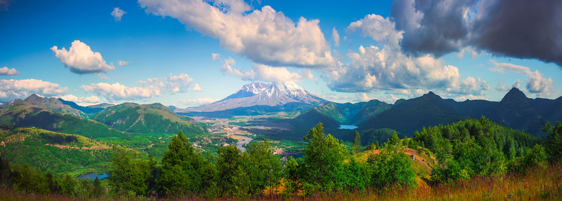 Mt St Helens Pano From Castle Rock Viewpoint