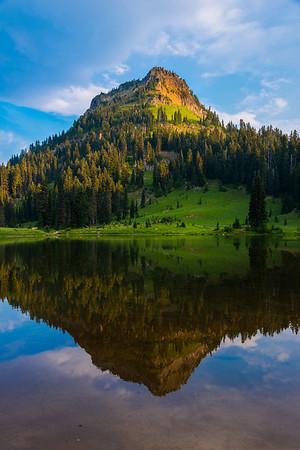 Morning Side Reflections - Lower Tipsoo Lake, Mount Rainier National Park, Washington St.