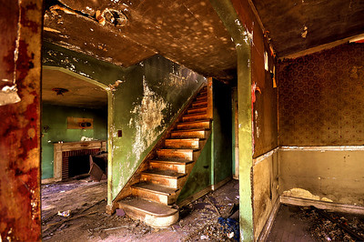 Rundown Stairs in an Abandoned House