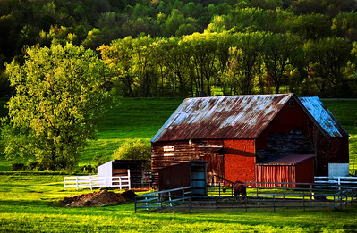 An Old Red Barn in Upstate New York
