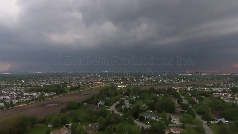 Severe Thunderstorm with Lightning approaching Chicagoland