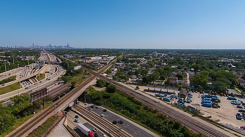 Kennedy & Edens Expressway Junction
