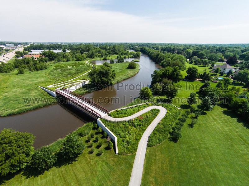 Riverview Park & DuPage River (Plainfield, IL USA)