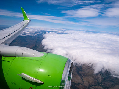 Kulula flight over the Swartberg Mountains. Western Cape. South Africa
