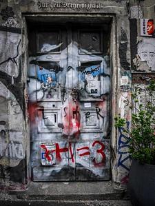 Doorway in Vienna. Austria.