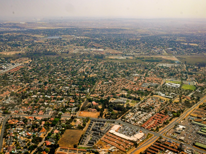 Urban sprawl. East Rand. Johannesburg.