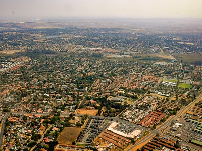 Urban sprawl. East Rand. Johannesburg.