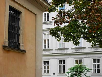 Detail of buildings. Vienna. Austria