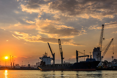 Harbour scene. Durban. KwaZulu Natal. South Africa.