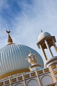 Habibia Soofie Saheb Badsha Peer Darbaar Musjid (Mosque). As soon as Hazrath Soofie Saheb arrived in Durban in 1895 he bought a piece of land on the northern banks of the Umgeni River in Riverside, a stone's throw from the Indian Ocean, and built a humble wood and iron house. On this land he chose a spot, where the present Musjid stands, and laid the foundation immediately after Juma Salaah. A few members from the community, including Sayed Fakroodeen, Rooknoodeen and Jhetam were present. The main builder was an Italian.  When the Musjid, was completed, it was also used as a Madressa until 1903, when a Parsee by the name of Rustomjee, at his own expense, built a madressa. An orphanage (Yateemkhana) was then built to house the orphans and destitutes. A portion of the northerly end of the land was used as a cemetery, and adjoining this piece of ground an old age home was built. Next to the orphanage was a kitchen and a place with ablution facilities. At the entrance to the Darbar, a Musafirkhana was built to cater for travellers and wayfarers. An Ashurkhana was also erected here. Durban. KwaZulu Natal. South Africa.