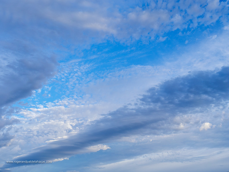 Image Number GH5R386556. Cloud formations in a blue sky. Western Cape. South Africa