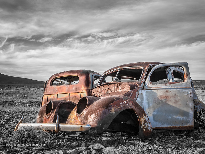 Old, rusted car. Middelpos. Northern Cape. South Africa.