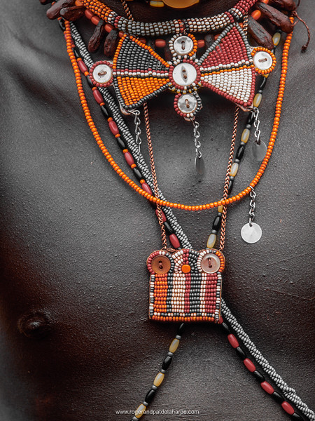 The multicolored beads worn by Maasai warriors or Moran. Olonana