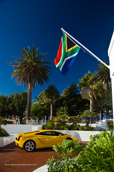 Lamborghini at the Bay Hotel. Camps Bay. Cape Town. Western Cape. South Africa