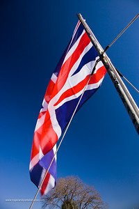 British flag flying at the re-enactment of the Battle of Talana. Dundee. KwaZulu Natal. South Africa