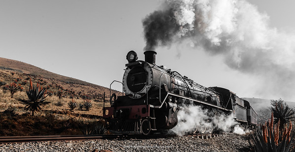 Steam train near Creighton. KwaZulu Natal Midlands. South Africa