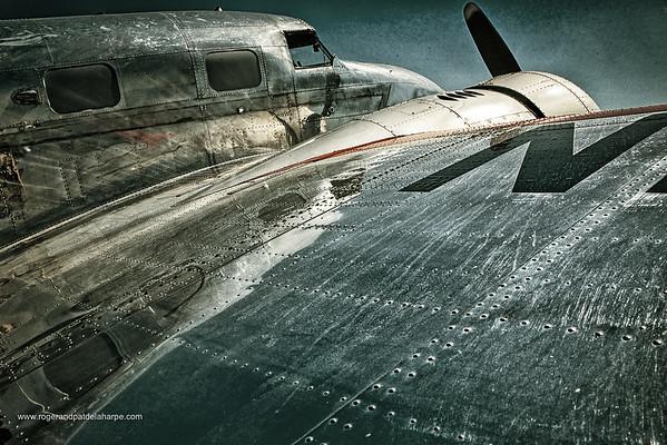 Lockheed L-12 Electra Junior aeroplane at Maun Airport. Botswana