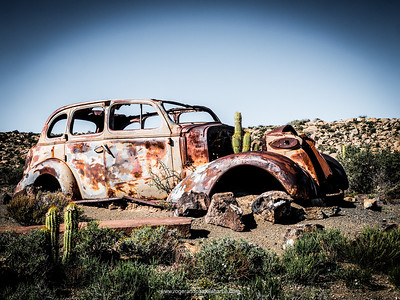 Old car near Fraserburg. Northern Cape. South Africa.