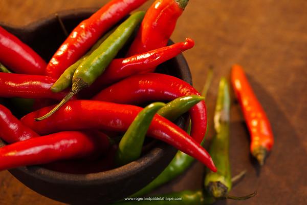 Chili peppers. KwaZulu Natal. South Africa