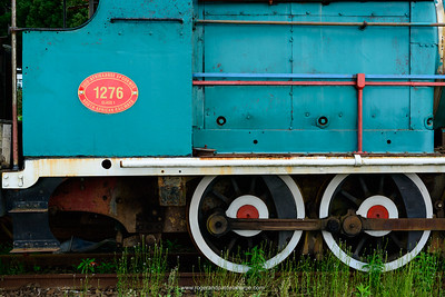Steam engine detail. Railway station. Hilton. KwaZulu Natal. South Africa