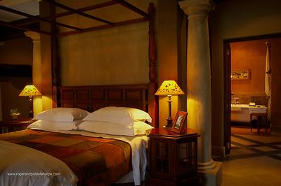 Bedroom. Dawson's Lodge. Near Barbeton. Mpumalanga. South Africa.