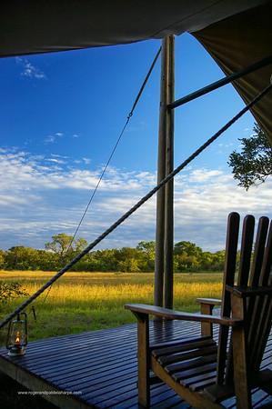 Deck of Safari Tent. Kruger National Park. Mpumalanga. South Africa.