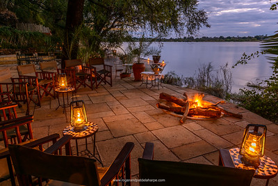 View of Zambezi River from Tongabezi  Lodge. Victoria Falls. Livingstone. Zambia