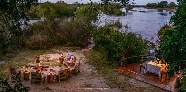 Sindabezi Island, part of Tongabezi  Lodge. Victoria Falls. Livingstone. Zambia
