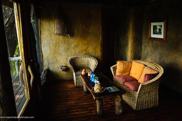 Bedroom interior at Mapula Lodge. Okavango Delta. Botswana