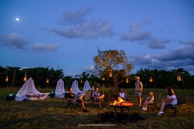 Sleep-out bush accommodation. Phinda / Munyawana / Zuka Game Reserve.  KwaZulu Natal. South Africa