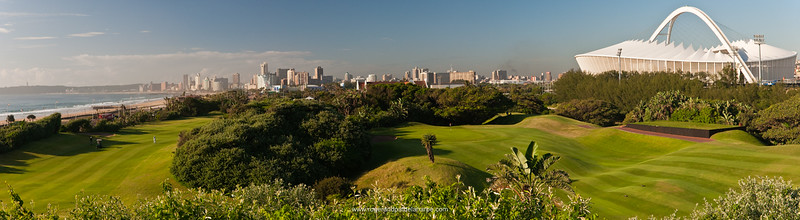 Image No: 461069 Moses Mabhida Stadium viewed from the Durban Country Club Golf Course. Durban. KwaZulu Natal. South Africa.