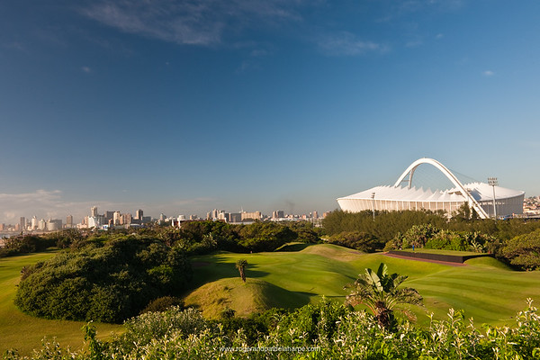 Image No: 460985 Moses Mabhida Stadium viewed from the Durban Country Club Golf Course. Durban. KwaZulu Natal. South Africa.