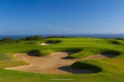 View of Phezula Golf Course. Knysna. Garden Route. Western Cape, South Africa.