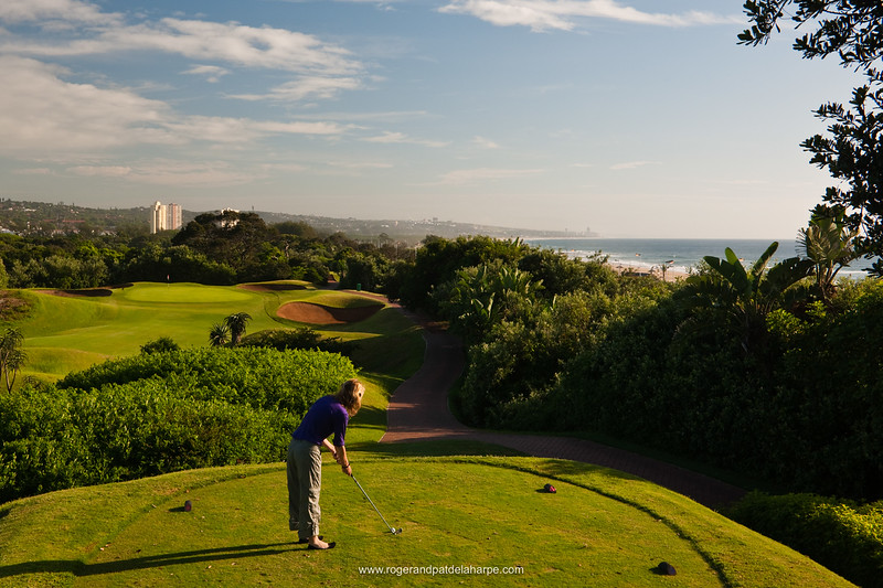 View north towards Umhlanga from the 2nd tee at the Durban Country Club Golf Course Durban. KwaZulu Natal. South Africa.