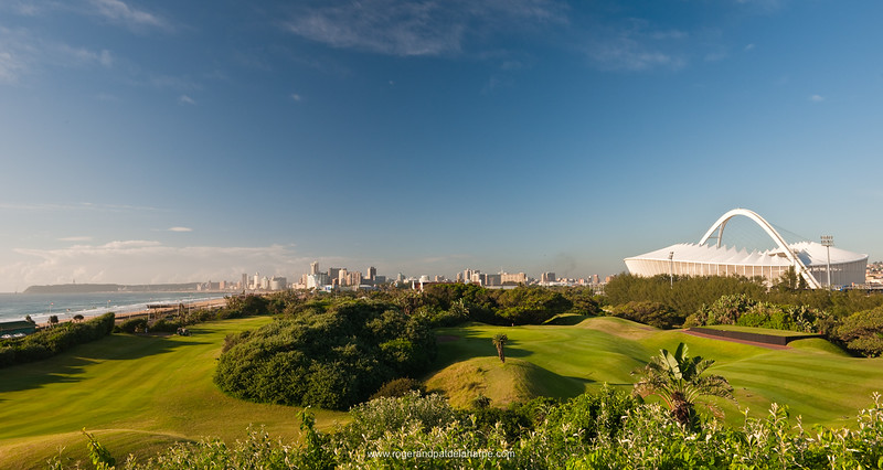 Image No: 460999 Moses Mabhida Stadium viewed from the Durban Country Club Golf Course. Durban. KwaZulu Natal. South Africa.