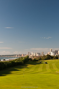 The first hole on the golf course at Durban Country Club. Durban. KwaZulu Natal. South Africa.
