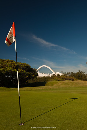 Image No: 461186 Moses Mabhida Stadium viewed from the Durban Country Club Golf Course. Durban. KwaZulu Natal. South Africa.