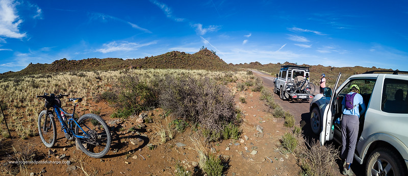 Ebiking near Fraserberg in the Northern Cape, South Africa.