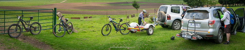 Getting ready for a ride near the Kaalvoet Vrou Monument. Free State. South Africa