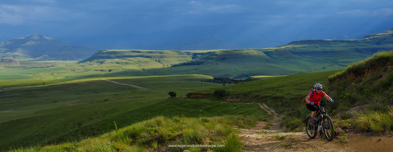 Image No: GH4R279331 eBiking or Mountain biking in Northern KwaZulu Natal Drakensberg. South Africa