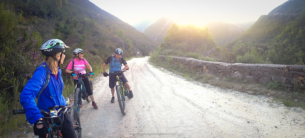 Mountain Biking on the historic Montagu Pass. George. Western Cape. South Africa