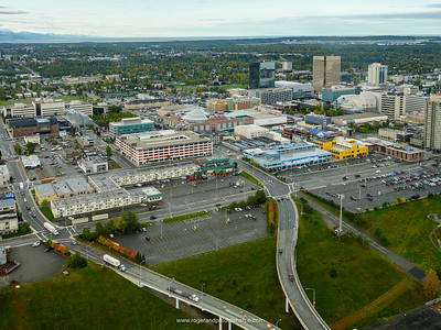 Aerial View of Anchorage. South Central Alaska. United States of America (USA).
